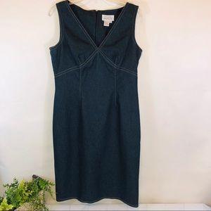 Adrianna Papell Denim Dress Sleeveless Casual